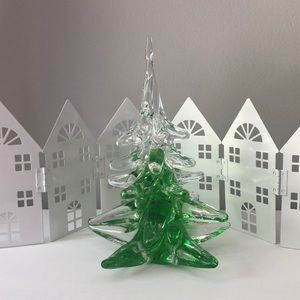Crystal Art Glass Christmas Tree-Ronneby Sweden